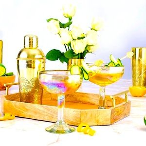 🏖2/$30 RARE GOLD COCKTAIL MIXER Shaker from India